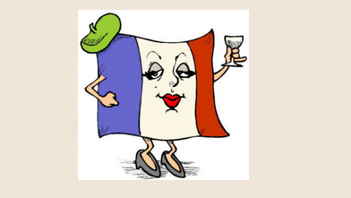 French flag wine, It's not all Gravy image, Emma Calin