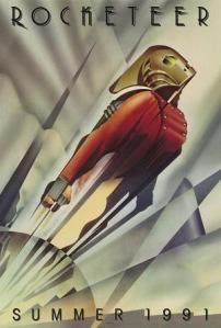 Poster for the Art Deco film Rocketeer