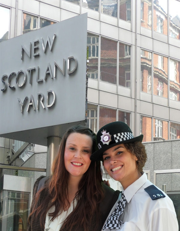 Anna and Shannon New Scotland Yard Final inc badge and blues